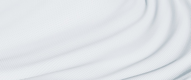 흰색 천의 3d 렌더링입니다. 무지개 빛깔의 홀로그램 호일. 추상 미술 패션 배경입니다.
