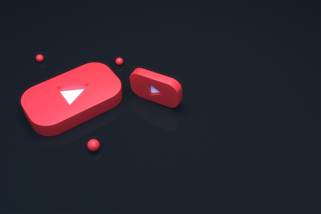 3d визуализация логотипа youtube