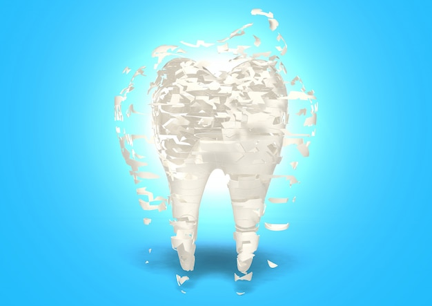 3d render porous bone if don't have milk, concept of strength derived from drink milk