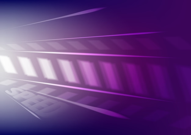 3d render purple abstract light speed motion background