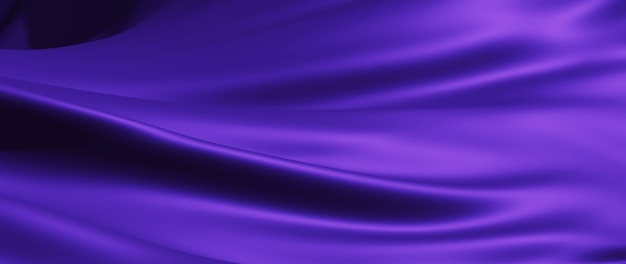 3d render of purple cloth. iridescent holographic foil. abstract art fashion background.