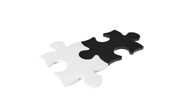 3d render of a puzzle in a white background
