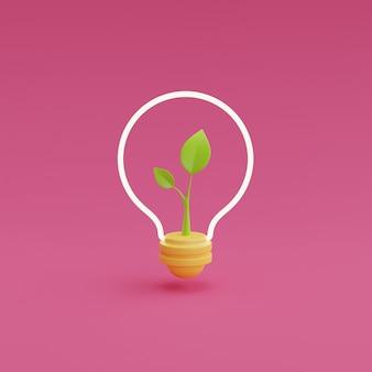 ピンクの背景に電球で3dレンダリングクエスチョンマーク。質問と回答のビジネスコンセプト、faqサイン。