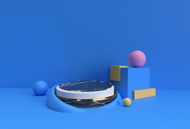 3d render scene of minimal podium scene for display products advertising design.