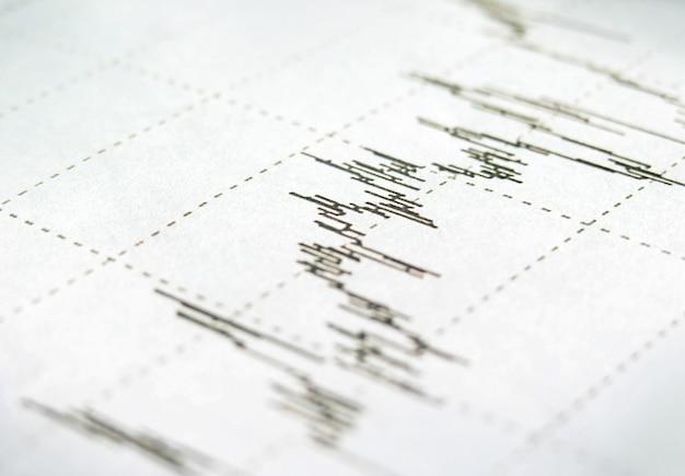 위쪽 화살표가 3d 렌더링 주식 시장 그래프