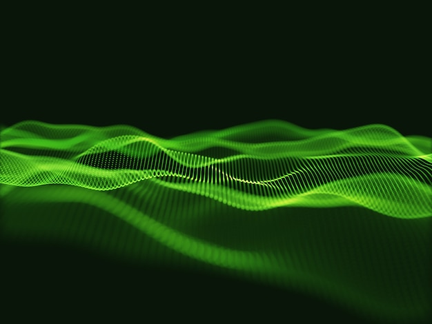 3d render of a techno science background with flowing particles