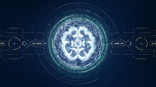 3dレンダリング技術人工知能デジタルデータの概念。