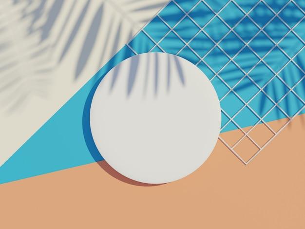 白い空白のシリンダーの3dレンダリング上面図がモックアップされ、製品が表示されます