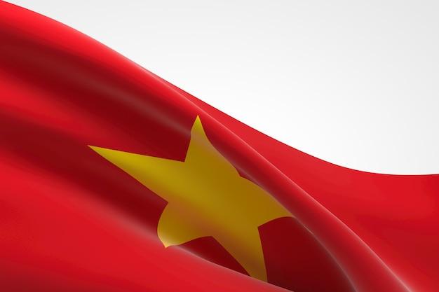 3d render of the vietnamese flag waving.
