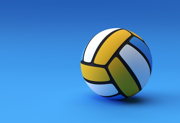 バレーボール/イエローバレーボールの3dレンダリングバレーボールイラスト。