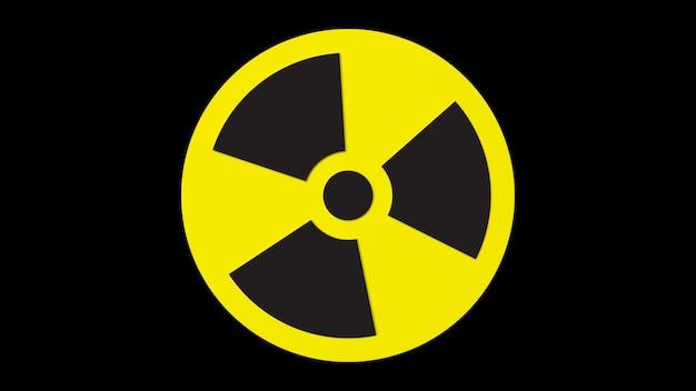 3d визуализация объемный знак радиационной опасности