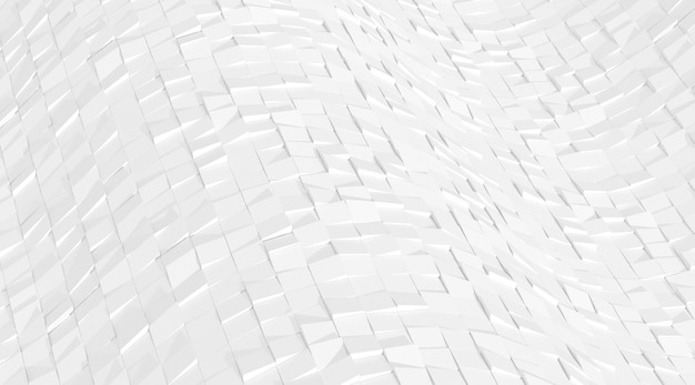 3d render of white abstract geometry pattern.