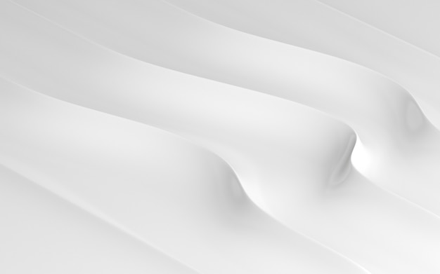 3d render of white abstract pattern.