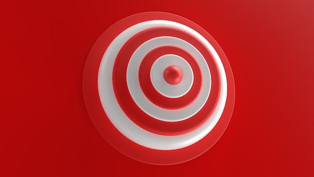 3d визуализация белая красная объемная мишень