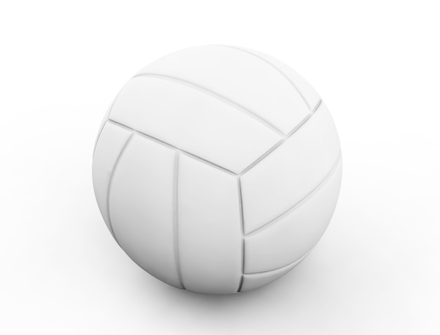 3d render white standard volleyball isolated on white background.