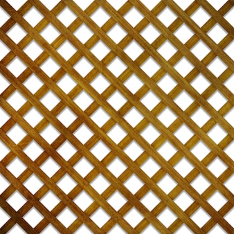 3d render of a wood lattice