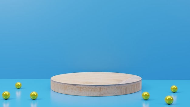 제품 프레젠테이션을 위한 3d 렌더링 나무 질감