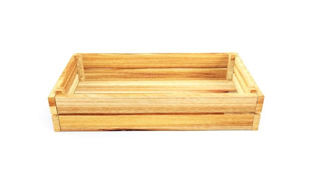 白い背景に対して3dレンダリング木枠