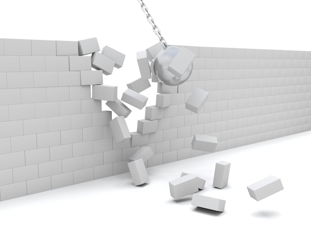 3d render of a wrecking ball