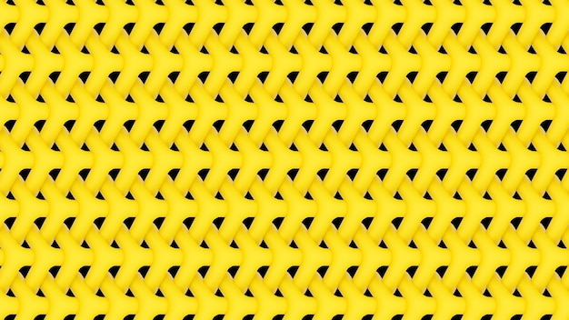 3d render yellow repeating pattern background wallpaper