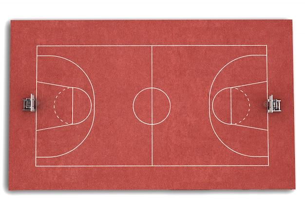 3d render баскетбольное поле