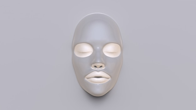 泥シートマスク3d render
