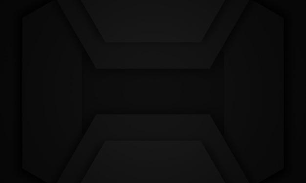 3d визуализации абстрактный черный геометрический фон.