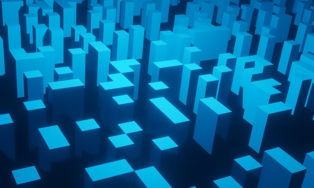 3d rendered abstract blue geometric background