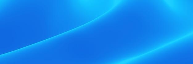 3dレンダリングされた抽象的な青い波状の布。波状の背景。