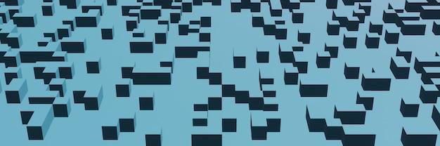 3dレンダリングされた抽象的なボックスの背景