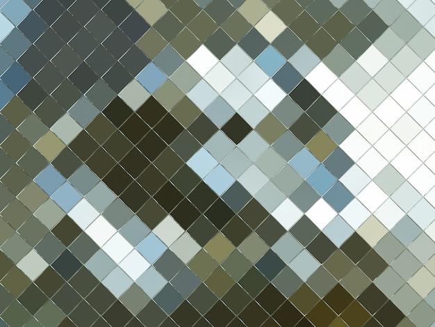 3dレンダリングされた抽象的な茶色と灰色のグリッド