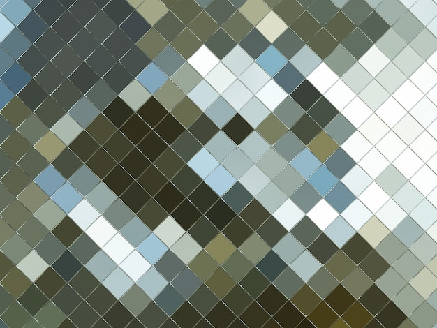 3d rendered abstract brown and grey grid