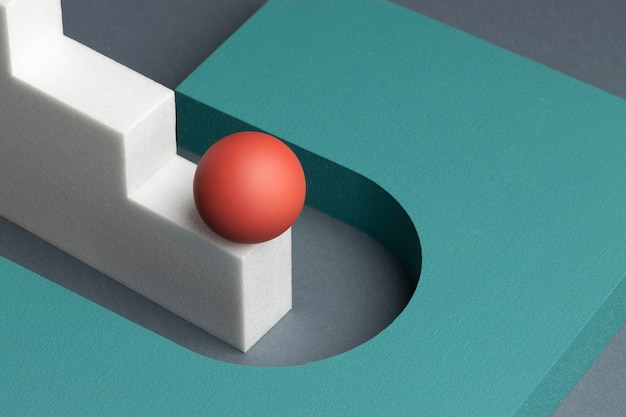3dレンダリングされた抽象的なデザイン要素の品揃え