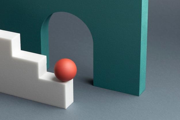 3d 렌더링 된 추상적 인 디자인 요소 구색