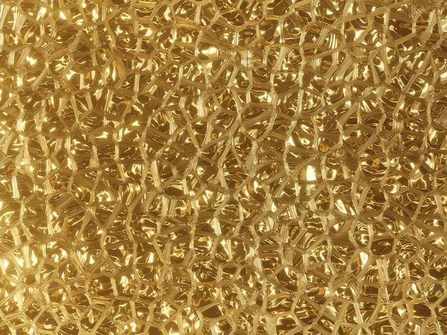 3d визуализации абстрактный золотой фон