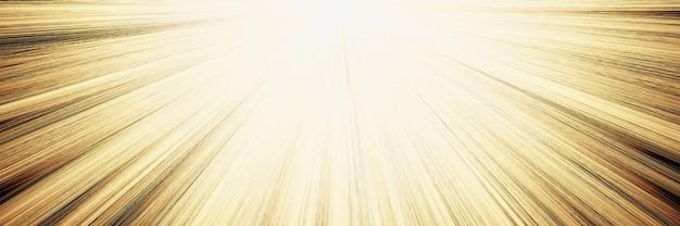 3d 렌더링 추상 황금 광선