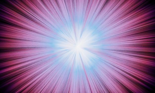 3d 렌더링 추상 분홍색 폭발 광선