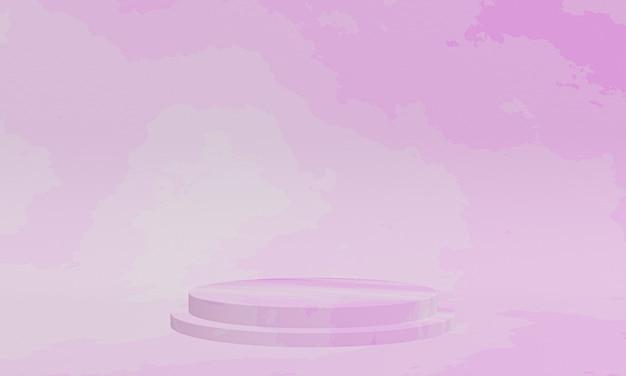 3dレンダリングされた抽象的なピンクの表彰台