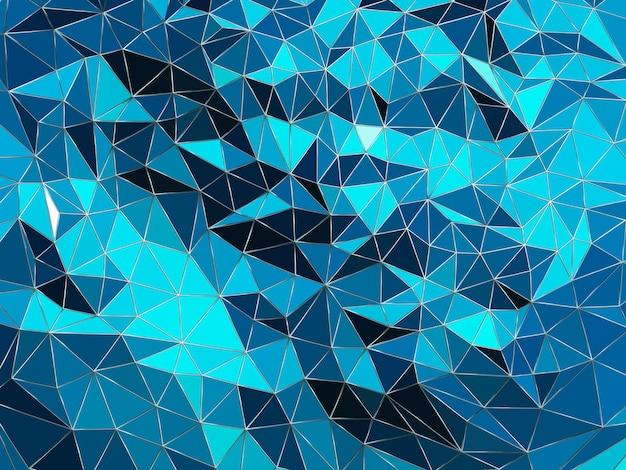 3d rendered abstract triangle grid