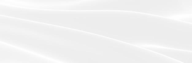 3d визуализированная абстрактная белая ткань с волнистым рисунком. фон волны.