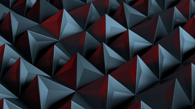 3d rendered background with extrude of primitives on randomly displacement plate.
