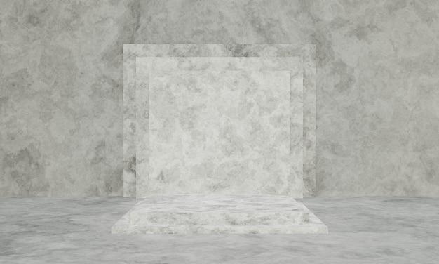 3d 렌더링 흑백 시멘트 연단