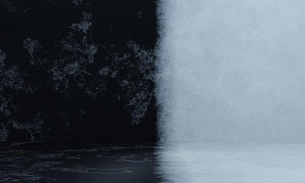 3d 렌더링 흑백 시멘트 벽 배경