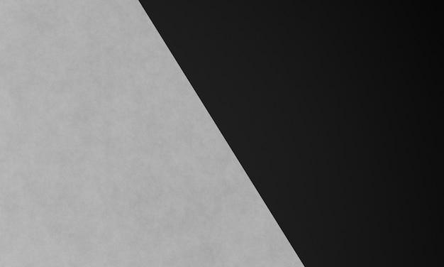 3dレンダリングされた黒と白のペーパーカットの抽象的な背景
