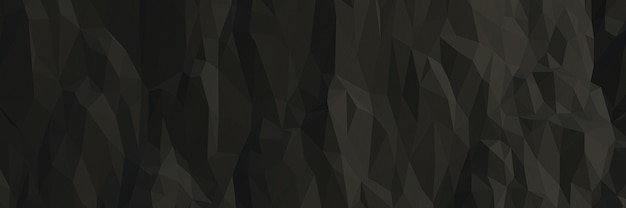3d 렌더링 검은 낮은 폴리 바위 절벽 배경
