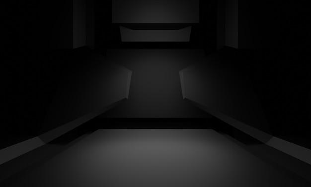 3d rendered black scientific stage.