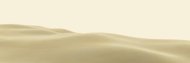 3d-рендеринг коричневой топографии пустыни. песчаная дюна.
