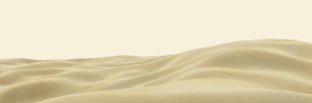 3dレンダリングされた茶色の砂漠の地形。砂丘。