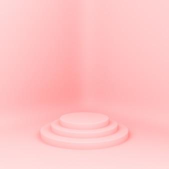 3d 렌더링 된 패션쇼. 제품 프레젠테이션, 최소한의 mokap 구성을위한 플랫폼