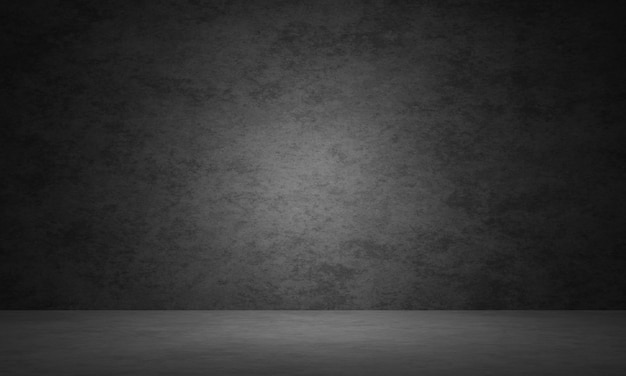 3d 렌더링 어두운 콘크리트 벽